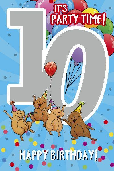 Glückwunschkarte zum 10. Geburstag