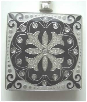 Handtaschenhalter Quadrat Schwarz / Silber