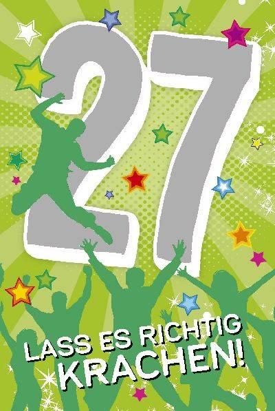 Glückwunschkarte zum 27. Geburstag