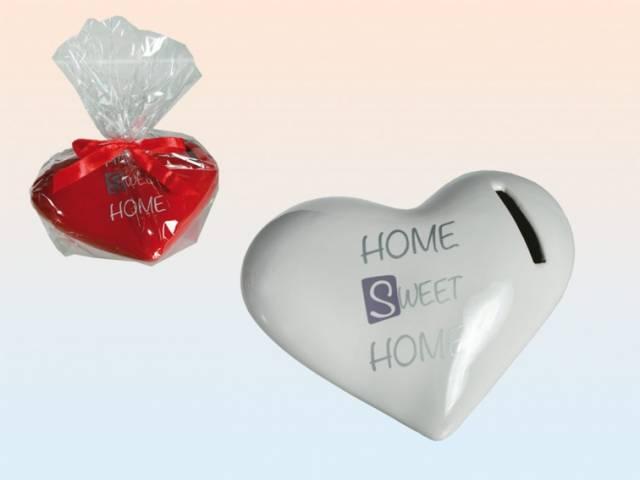 Keramik Spardose Herz