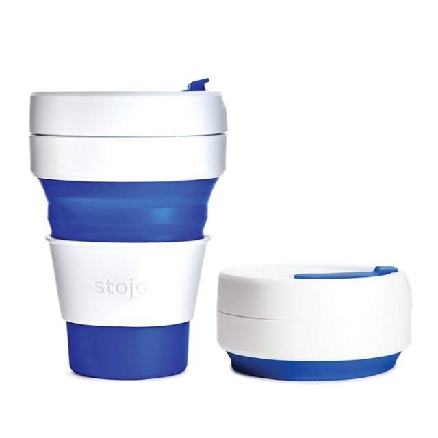 Stojo Trinkbecher Pocket Cup Blau