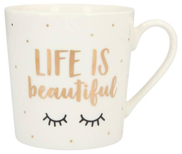 Depesche Porzellan Becher Life is beautiful