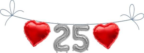 Folien Ballon Buchstaben Set 25