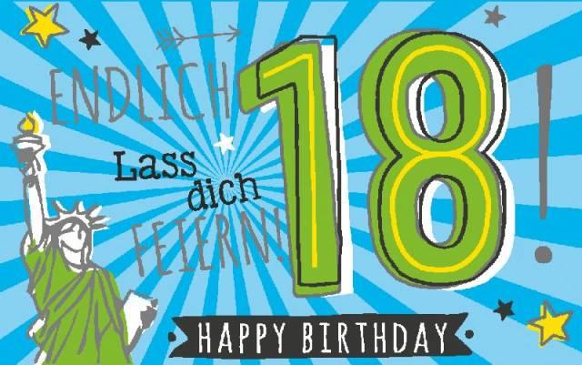 Geburtstagsteelicht 18. Geburtstag