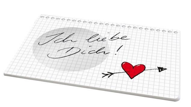 Unterteller Liebe Dich