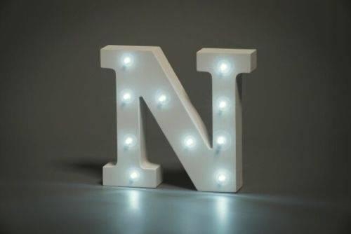 LED Buchstabe Lights Letter N