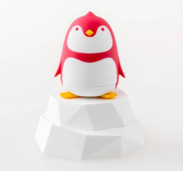 Pinguin Schraubendreher auf Eisscholle Fuchsia