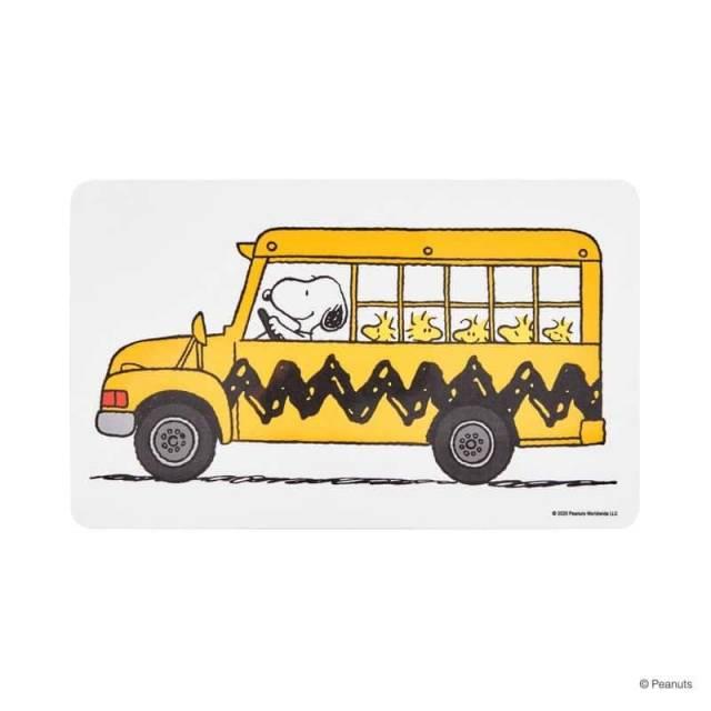 Snoopy Brettchen Bus