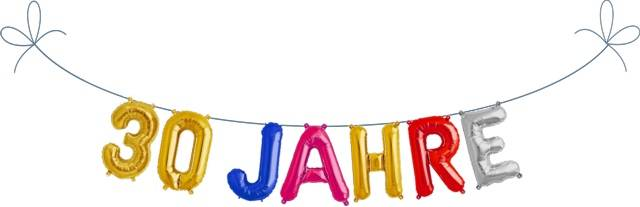 Folien Ballon Buchstaben Set 30 JAHRE