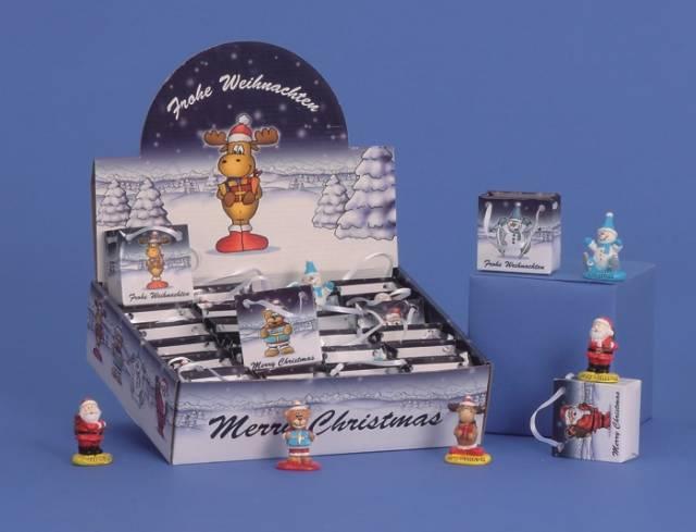 Weihnachtsfiguren in der Tüte