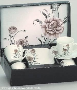 Kaffeeset Rose