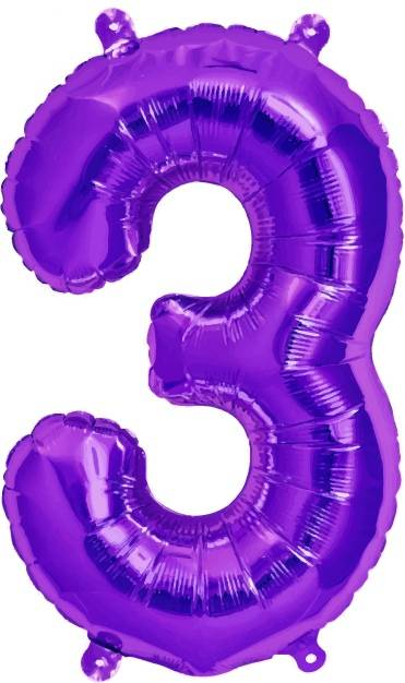 Folien Ballon Zahl 3
