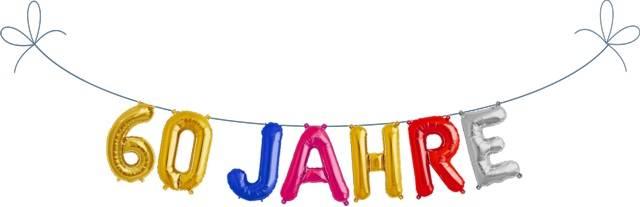 Folien Ballon Buchstaben Set 60 JAHRE