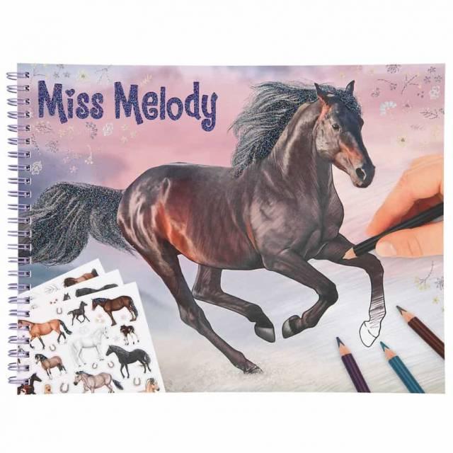 Miss Melody Pferde Malbuch