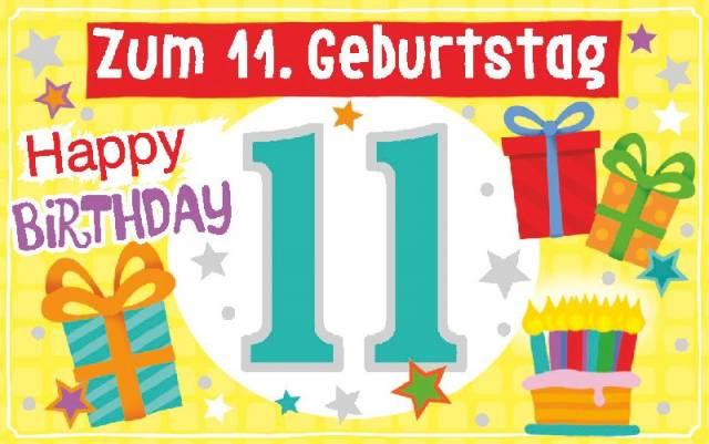 Depesche Geburtstagskarte mit Teelicht   11. Geburtstag